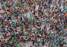 Protestez la pro culture et langue de la Catalogne en île espagnole de Majorque photographie stock libre de droits