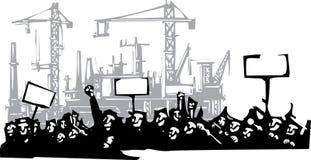 Protestfabriek 2 vector illustratie
