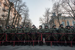 Protesthandlingen i centrala Kyiv Royaltyfri Bild