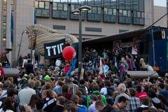 Protesti contro gli accordi commerciali TTIP e CETA a Bruxelles il 20 settembre 2016 a Bruxelles Immagini Stock