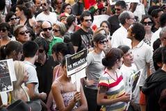 Protesti contro i tagli di governo, Oporto Fotografia Stock