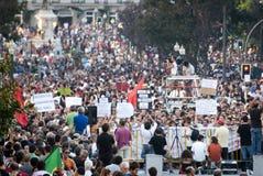 Protesti contro i tagli di governo, Oporto Immagine Stock Libera da Diritti
