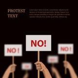 Protesti, illustrazione di disaccordo con il posto per testo Fotografia Stock