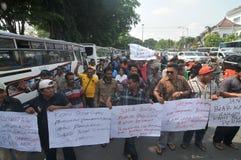 Protestieren Sie gegen die Politik der Regierung, um Kraftstoffpreise zu erhöhen Stockfotografie