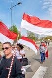 Protestieren Sie gegen Fusion von Elsass-Region mit Lothringen und Champa Stockfotos