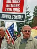 Protestierender auf Gesundheitspflege. Stockbild