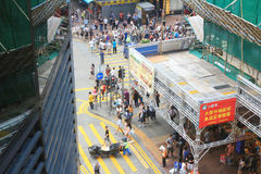 Protestierender besetzen die Straße in Mongkok Stockfoto