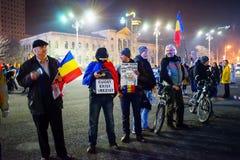 Protestierender in Bukarest, Rumänien Lizenzfreies Stockfoto