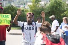 Protestierender in Ferguson, Missouri Lizenzfreies Stockbild