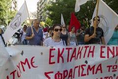 Protestierender gesammelt in den Straßen Teilgenommen vorbei über Protest 1500 Lizenzfreie Stockbilder