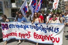 Protestierender gesammelt in den Straßen Teilgenommen vorbei über Protest 1500 Lizenzfreies Stockfoto