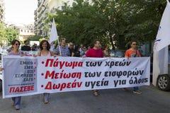 Protestierender gesammelt in den Straßen Teilgenommen vorbei über Protest 1500 Stockbilder