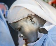 Protestierender-haitianische Krankenschwester Lizenzfreie Stockbilder