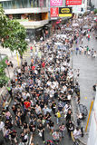 Protestierender-Nachfrage-abweichende Todesprüfspitze in H.K. Lizenzfreie Stockbilder