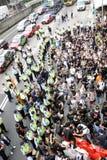 Protestierender-Nachfrage-abweichende Todesprüfspitze in H.K. Lizenzfreies Stockfoto