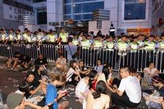 Protestierender-Nachfrage-abweichende Todesprüfspitze in H.K. Lizenzfreie Stockfotografie