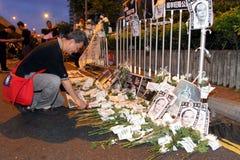 Protestierender-Nachfrage-abweichende Todesprüfspitze in H.K. Lizenzfreies Stockbild