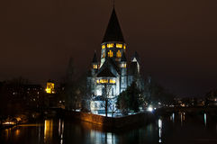 Protestierender Tempel in Metz Stockfotos