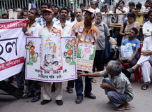 Protesting against Chit Fund Stock Photo