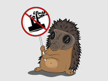 Protesting hedgehog Royalty Free Stock Image