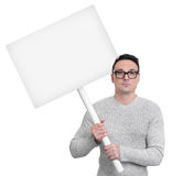 Protesting person with picket sign Stock Images