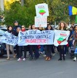 Protesting for Rosia Montana Royalty Free Stock Photo