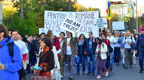 Protesting for Rosia Montana Royalty Free Stock Images