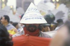 Protesting U.S. intervention in Central America Stock Photo