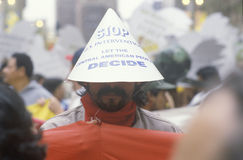 Protesting U.S. intervention in Central America,  Los Angeles, California Stock Photography