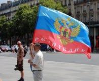 Protestmanifestation mot krig i Ukraina Arkivbilder