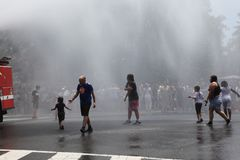 Protestmars i DC Fotografering för Bildbyråer