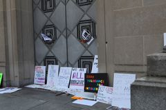 Protestmars i DC Arkivfoton