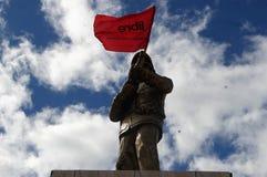 Protestmars Tegucigalpa Honduras November 2017 2 Arkivbild