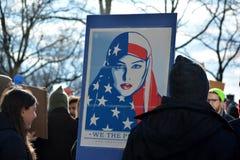 Protestmarsch Royaltyfri Bild