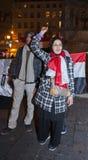 Protesto árabe, egípcios que demonstram de encontro a mil. Fotografia de Stock Royalty Free