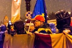 Protesto anticorrupção em Bucareste Foto de Stock Royalty Free