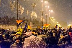 Protesto anticorrupção em Bucareste Imagem de Stock
