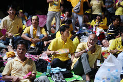 Protesto Banguecoque da ALMOFADA Fotografia de Stock