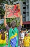 Protesto contra a corrupção do governo federal em Brasil Imagens de Stock Royalty Free