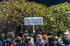 Protesto contra o coruption e o governo romeno Imagem de Stock