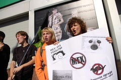 protesto da Anti-pele Imagens de Stock Royalty Free