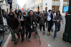 Protesto da austeridade em Londres Fotografia de Stock Royalty Free