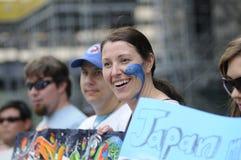 Protesto da caça do golfinho. Fotos de Stock