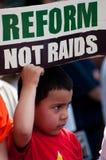 Protesto da imigração na casa branca Imagem de Stock Royalty Free