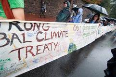 Protesto da mudança de clima Imagens de Stock Royalty Free