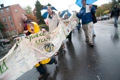 Protesto da mudança de clima Foto de Stock Royalty Free