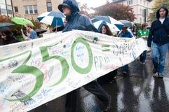 Protesto da mudança de clima 350 Foto de Stock Royalty Free