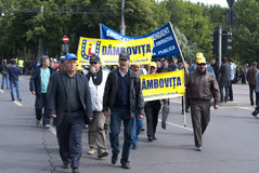 Protesto da união Imagem de Stock