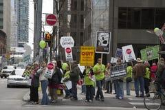 Protesto das energias eólicas em Toronto Imagens de Stock Royalty Free