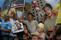 Protesto de Beirute Hezboullah foto de stock